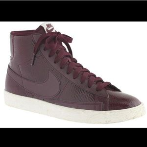 "Nike snake skin ""blazer"" high tops"